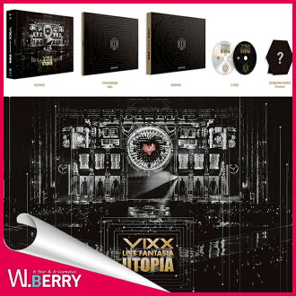 VIXX ビックス LIVE FANTASIA UTOPIA DVD 2DISC + 80P 포토 북 + 접는 종이 1 종 + 처음 포스터 1 종
