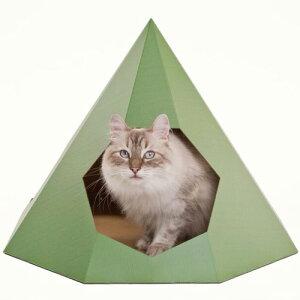 【ねこだん 猫グッズ 猫ハウス キャットタワー マンション キャットハウス 段ボールハウス 猫用品 猫 ネコ 家 猫小屋 ダンボール丈夫 かわいい おしゃれ】【送料無料】 ペット用ナチュラル