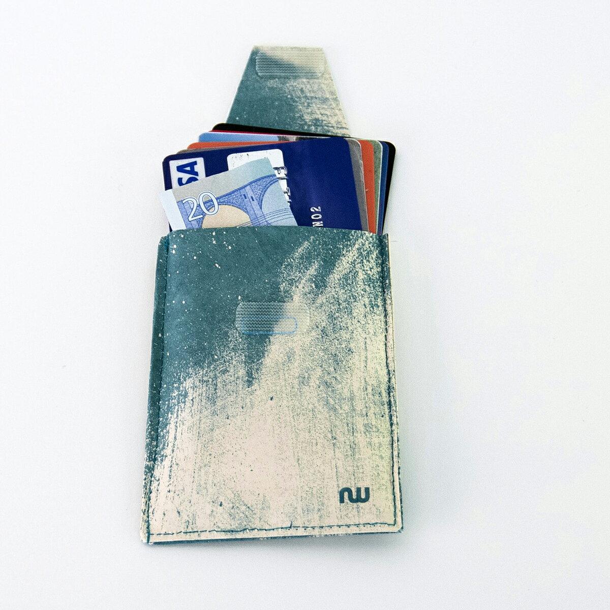 カードケース ポイントカード スリム【送料無料】カードホルダー カード入れ タイベック 定期入れ パスケース 名刺入れ メンズ レディース 男性 女性 ベルギー製 made in Belgium card case card holder tyvek ギフト 祝い プレゼント 【NOWA Move Splash】