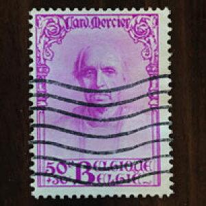 【送料無料】デザイア・ジョゼフ・メルシエ 1932年 昭和7年 2枚セット ベルギー切手