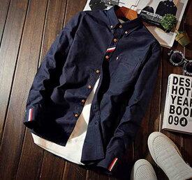 Yシャツ カジュアル メンズ 白 ブラック ボタンシャツ ワイシャツ 夏 カットソー 冬 大きいサイズ トップス 秋 春 黒 長袖 予約商品