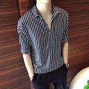 シャツ メンズ カジュアル 七分袖 大きいサイズ おしゃれ 半袖 カジュアルシャツ 黒 白 ボタン 夏 アメカジ 夏服 20代 ブランド オフィス かっこいい 50代 お洒落 40代 カジュアル ファッション 大人 30代