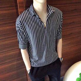 シャツ メンズ カジュアル 七分袖 大きいサイズ おしゃれ 半袖 カジュアルシャツ 黒 白 ボタン 夏 アメカジ 夏服 20代 ブランド オフィス かっこいい 50代 お洒落 40代 カジュアル ファッション 大人 30代 セール