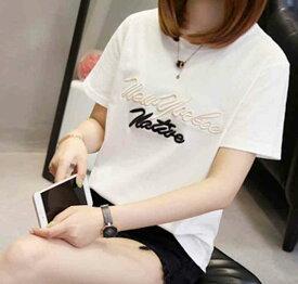 Tシャツ 半袖 レディース ホワイト カジュアル 白 ブラウス インナー 春 トップスネック 夏 オフィス ブラック シンプル 黒 予約商品