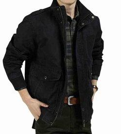 ミリタリージャケット メンズ カジュアル アウター 無地 春 ジャケット ブラック 秋 アメカジ 夏 冬 コート 黒 ロング 予約商品