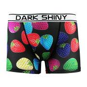 【メール便送料無料】DARKSHINYMen'sBoxerPants-BlackStrawberrys(下着メンズ下着レディースインナーアンダーウェアおしゃれオシャレパンツアンダーウェアレディース)