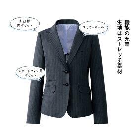 ミスティーダブルストライプ柄テーラードジャケット【アウトレット】