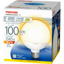 【クリアランスセール】 東芝 LED電球 ボール電球形 電球色 LDG13L-H/100W[LDG13LH100W]