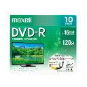 マクセル maxell 録画用 DVD-R 1-16倍速対応(CPRM対応) ひろびろ美白レーベル 120分 10枚 DRD120WPE.10S
