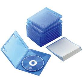 エレコム ELECOM ブルーレイディスクケース 1枚収納/10枚 クリアブルー CCD-BLU110CBU