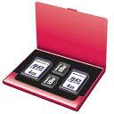 ナカバヤシ Digio2 メモリーカードケース レッド MCC-1000R