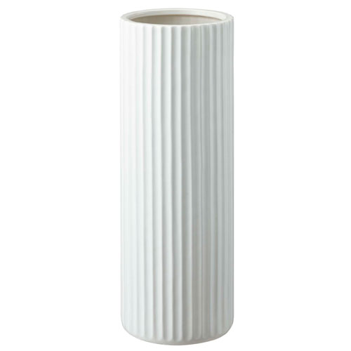 山崎実業 陶器傘立て スリム ストライプ ホワイト 7910