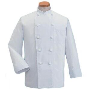サマーコックコート 長袖 ホワイト 白 LL KD-418 SKT5204 【サーヴォ サンペックスイスト 業務用 ユニフォーム 制服】