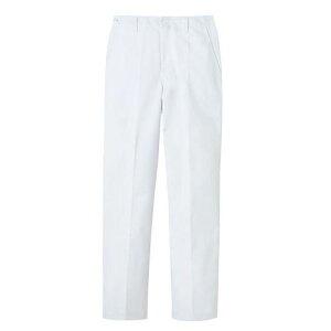 パンツ 男性用 ホワイト 白 82cm FH-1116 SZB1605 【サーヴォ サンペックスイスト 業務用 ユニフォーム スラックス ズボン 制服】