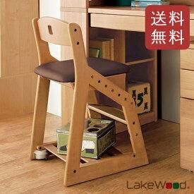 【送料無料】【2月末以降入荷予定】コイズミ 木製チェア レイクウッド ダークブラウン LDC-34 ANDB 【レイクウッドチェア イス 学習椅子】