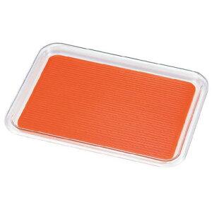 曙産業 クリア マジックトレー 角型 12インチ 中 オレンジ PMZ2815