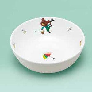 関東プラスチック工業 メラミンお子様食器「くまのがっこう」 ラーメン鉢 RKG1801