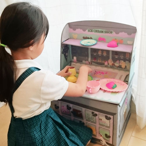 キシマ ごっこ遊び キッズ収納ボックス アイスクリームショップ 0ヶ月〜6歳 出産祝い KNB-88051