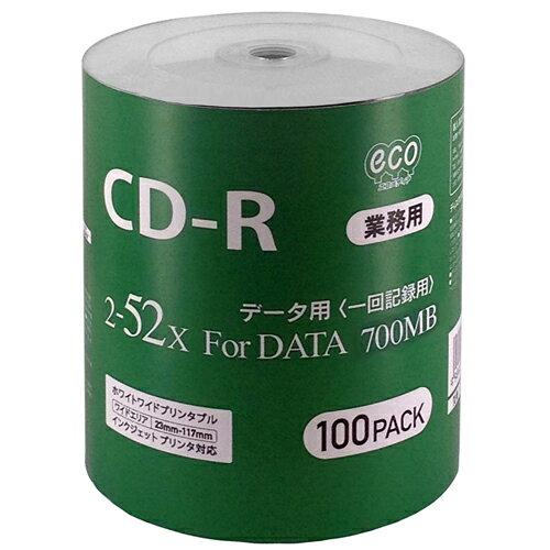 磁気研究所 データ用CD-R 700MB 52倍速 シュリンクパック100枚 CR80GP100_BULK
