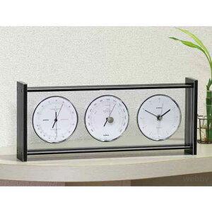 【送料無料】エンペックス EMPEX 気象計 気圧計 時計 温湿度計 スーパーEXギャラリー EX-793