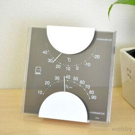 EMPEX エンペックス 温湿度計 エルムカラー グレー LV-4957