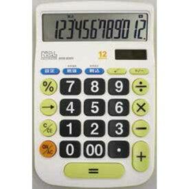 大型キー電卓 M ECD-8502G 【ナカバヤシ 計算】