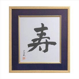 ナカバヤシ 木製色紙額 寿 紺 フ-CW-201-B