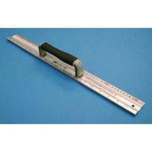 シンワ測定 アルミカッター定規 カット師 60cm 併用目盛 取手付 65098
