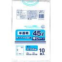 日本技研 半透明ホワイト 厚口 45L 10枚 WH−6 5664110