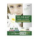 ナカバヤシ インクジェット用紙 しっかり厚手の光沢紙 厚手 光沢 両面用(裏面マット) A4 50枚 JPPX-A4S-50