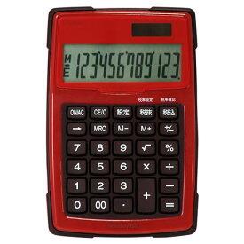 電卓 12桁 防水 S レッド ECD-WR01RD 【ナカバヤシ 計算】