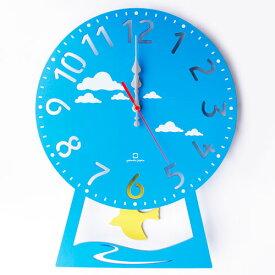 【期間限定送料無料】ヤマト工芸 振り子時計 CHILD clock YK14-104-Lbl ハト(ライトブルー)