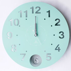 【期間限定送料無料】ヤマト工芸 振り子時計 circle clock YK14-105-Mbl ミントブルー