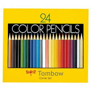 トンボ鉛筆 色鉛筆 紙箱 24色 NA CQ-NA24C