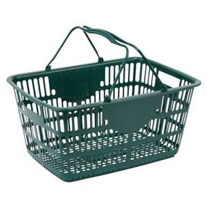 ナンシン ショッピングバスケット ダークグリーン365×510 NSW-33