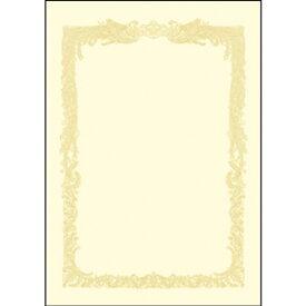 ササガワ OA賞状用紙 100枚入 B5横書 クリーム 10-1158