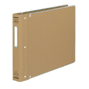 コクヨ バインダーMP 布貼りタイプ A4横 20穴 縁金付約200枚収容 ハ-128