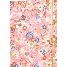 ナカバヤシ 和綴帖 A6サイズ 横綴じタイプ 小花ピンク ノ-WTJ-A6-1