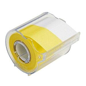 ヤマト メモック ロールテープ カッター付き 黄/白 R-25CH-WY
