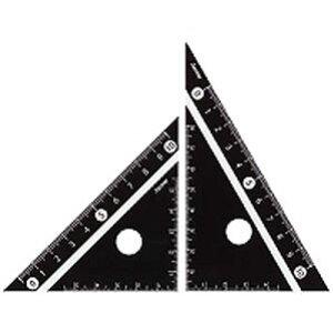 見やすい白黒 三角定規 黒 10cm APJ251B