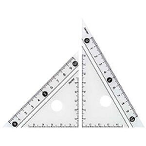 見やすい白黒 三角定規 白 10cm APJ251W