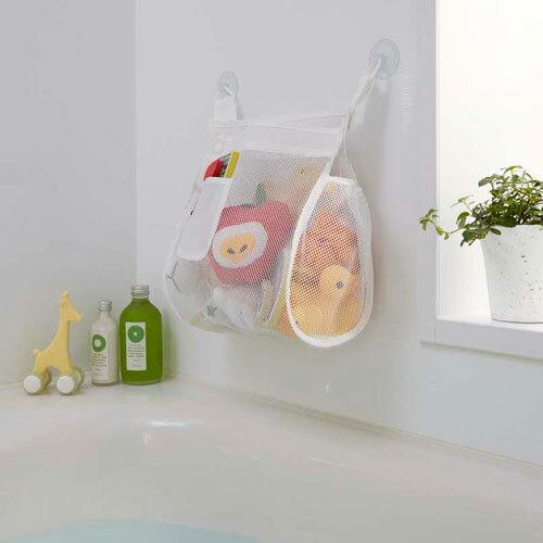 山崎実業 お風呂おもちゃ袋 スクエア ホワイト 3367