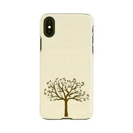 【お試し送料無料】Man & Wood マンアンドウッド iPhone 6.5/iPhone XS Max 天然木ケース Apple tree I13885i65