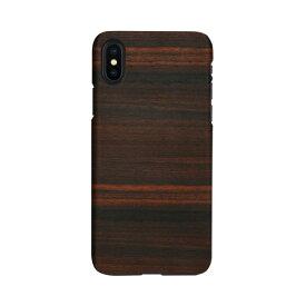 【お試し送料無料】Man & Wood マンアンドウッド iPhone 6.5/iPhone XS Max 天然木ケース Ebony I13892i65