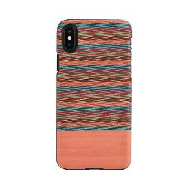 【お試し送料無料】Man & Wood マンアンドウッド iPhone 6.5/iPhone XS Max 天然木ケース Browny Check I13894i65