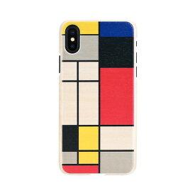 【お試し送料無料】Man & Wood マンアンドウッド iPhone 6.5/iPhone XS Max 天然木ケース Mondrian Wood I13896i65