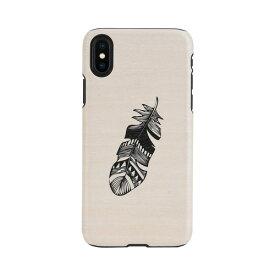 【お試し送料無料】Man & Wood マンアンドウッド iPhone 6.5/iPhone XS Max 天然木ケース Indian I13897i65