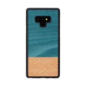 【お試し送料無料】Man & Wood マンアンドウッド Galaxy Note 9 天然木ケース Denim I15556GN9