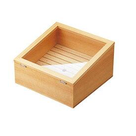 【送料無料】ヤマコー ネタ箱傾斜型 目皿・アクリル蓋付 35586