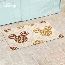 【送料無料】【メーカー直送】クリーンテックス・ジャパン Disney Mat Collection ディズニー 玄関マット Mickey ミッキー ロココ調 ブラウン 50 × 75 cm BK00031